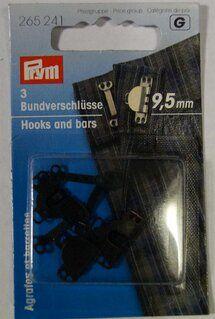 *Prym Broekhaken 9,5mm. zwart (265.241)*
