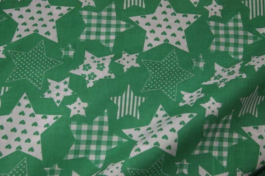 Nb 5649 025 katoen fantasie sterren groen de stoffenkraam katoenen stoffen online bestellen - Paraplu katoen ...