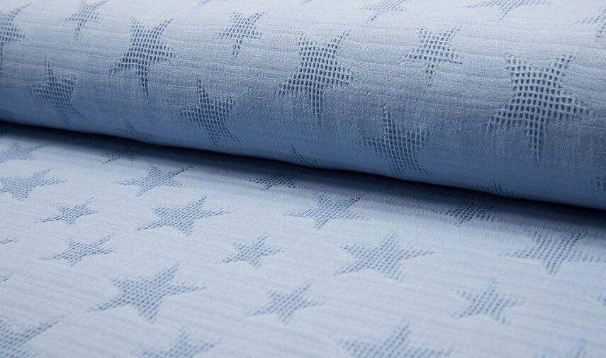 kc8099 004 baumwolle waffle jaquard star blue der stoffladen hat viele baumwollstoffe online. Black Bedroom Furniture Sets. Home Design Ideas